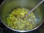 Pickles simmering with spices